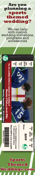Hockey Themed Wedding Invitations and Programs