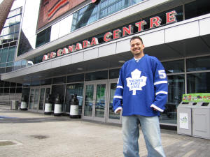 Hans Steiniger at the Air Canada Centre