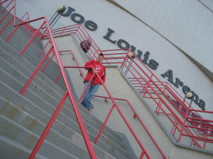 Hans Steiniger at Joe Louis Arena