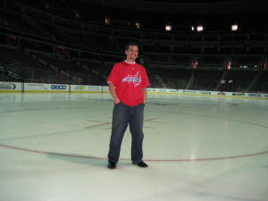 Hans Steiniger on the Ice at the Verizon Center