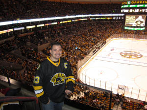 Hans Steiniger at TD Garden - Boston Bruins