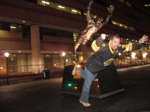 Bobby Orr Statue - TD Garden, Boston Bruins