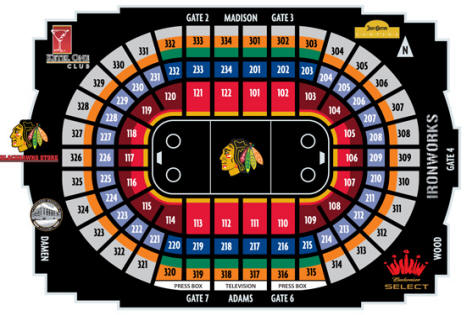 Nhl hockey arenas united center home of the chicago blackhawks