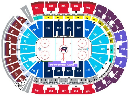 NHL Hockey Arenas - Nationwide Arena - Home of the Columbus Blue ...