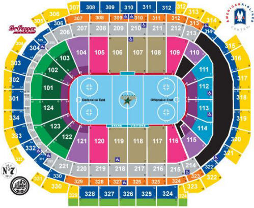 Nhl Hockey Arenas American Airlines Center Home Of The