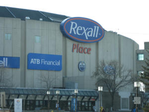 Rexall Place, home of the Edmonton Oilers - Frozen Pond Pilgrimage
