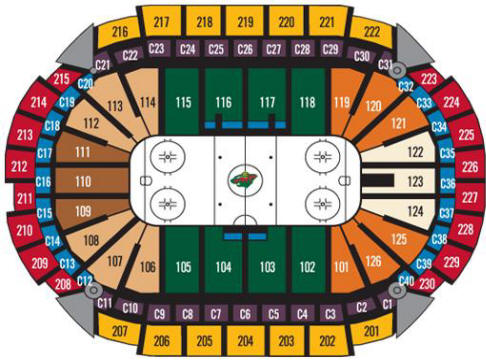 Nhl hockey arenas xcel energy center home of the minnesota wild