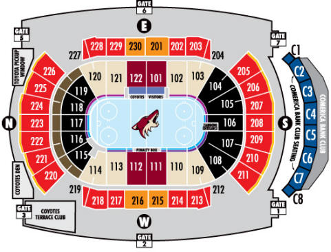 Nhl Hockey Arenas Jobing Com Arena Home Of The Phoenix Coyotes