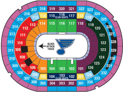 St Louis Blues Arena Seating Chart Images
